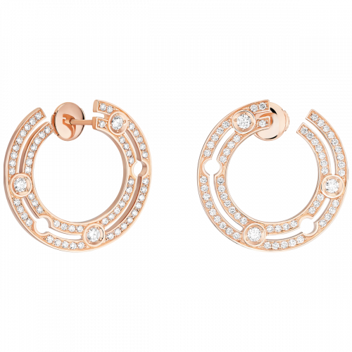 Créoles Pulse dinh van or rose et diamants