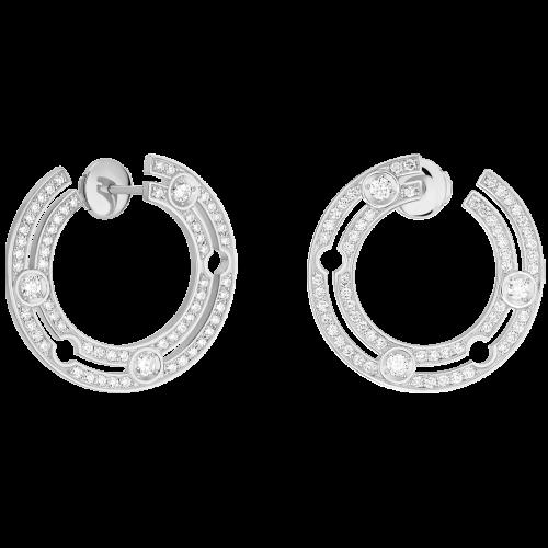 Créoles Pulse dinh van or blanc et diamants