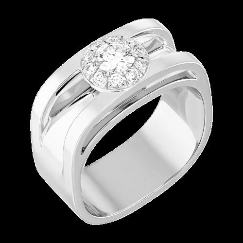Bague Capucine or blanc et diamants