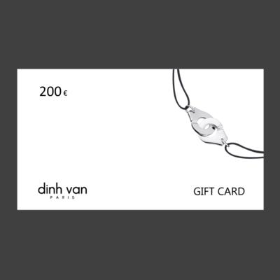 GIFT CARD - 200 euros