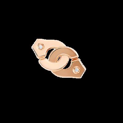 Mono boucle d'oreille Menottes dinh van R8 or rose et diamants