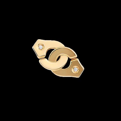 Mono boucle d'oreille Menottes dinh van R8 or jaune et diamants