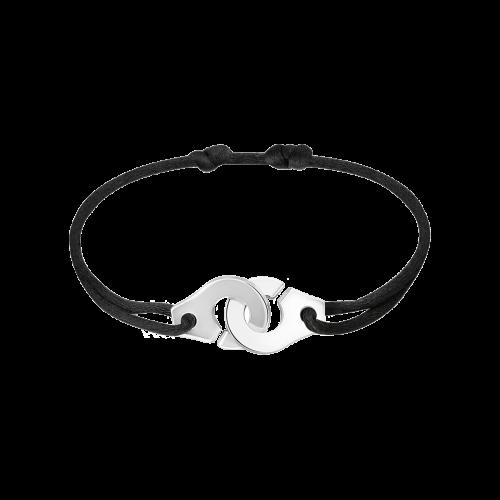Bracelet sur cordon Menottes dinh van R12 argent