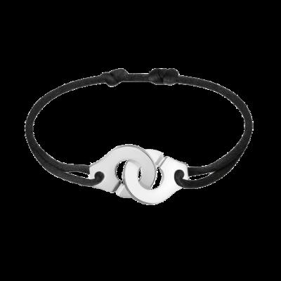 Bracelet sur cordon Menottes dinh van R15 argent