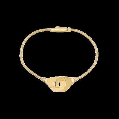 Bracelet Menottes dinh van R12 or jaune et diamants