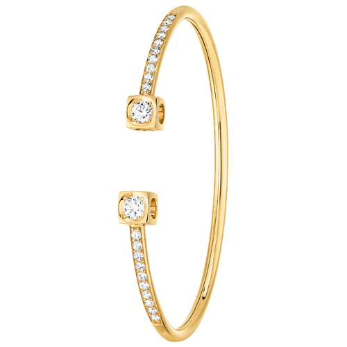 Bracelet Le Cube Diamant XL or jaune et diamants