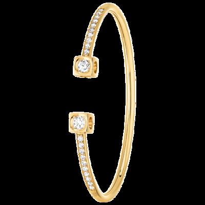 Bracelet Le Cube Diamant XL or jaune et diamants