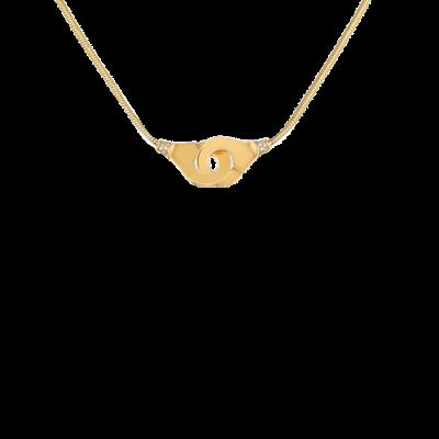 Collier Menottes dinh van R12 or jaune et diamants