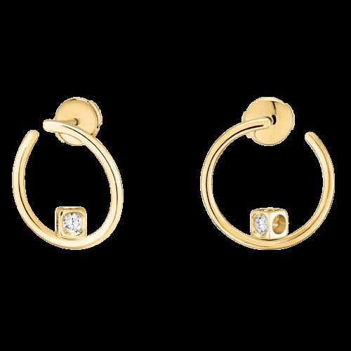 Créoles Le Cube Diamant or jaune et diamants