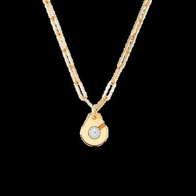 Collier Menottes dinh van R15 or jaune et diamants