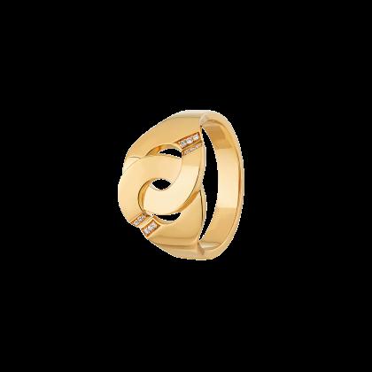 Bague Menottes dinh van R12 or jaune et diamants