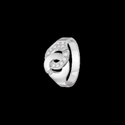 Bague Menottes dinh van R10 or blanc et diamants
