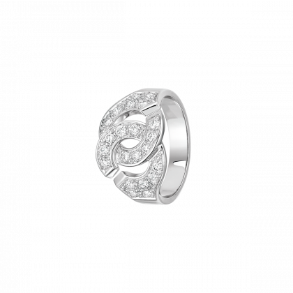 Bague Menottes dinh van R12 or blanc et diamants