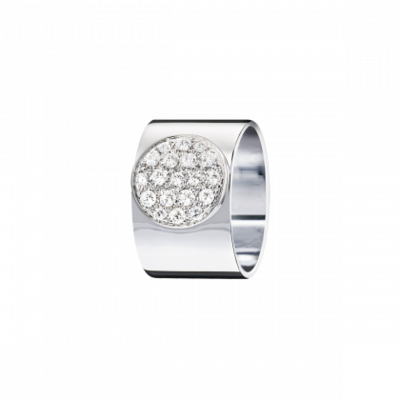 Bague Anthéa or blanc et diamants