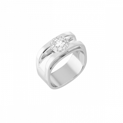 Bague Capucine or blanc et diamants