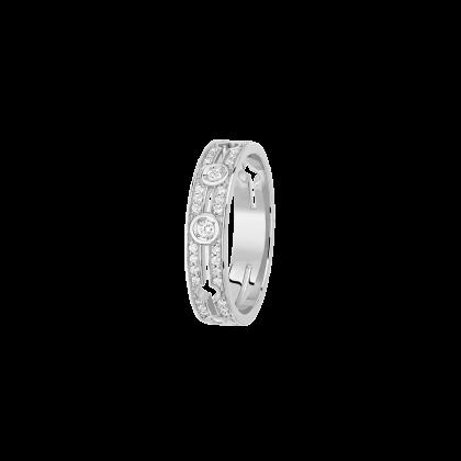 Bague Pulse dinh van petit modèle or blanc et diamants