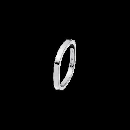 Alliance carrée 2mm or blanc