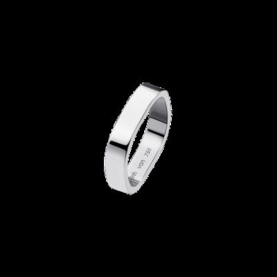 Alliance carrée 4mm or blanc