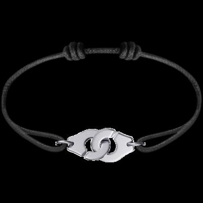 Bracelet sur cordon Menottes dinh van R12 en PLATINE