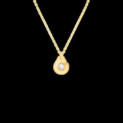 Collier Menottes dinh van R8 or jaune et diamant