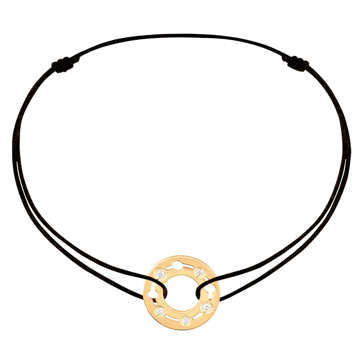 Bracelet sur cordon Pulse dinh van or jaune et diamants