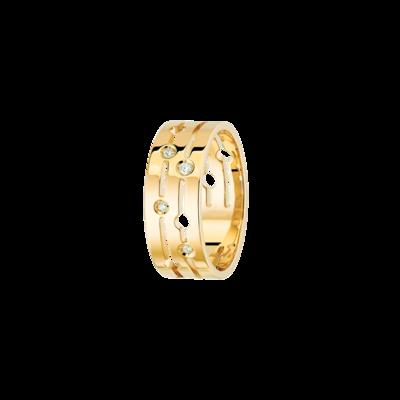 Bague Pulse dinh van moyen modèle or jaune et diamants