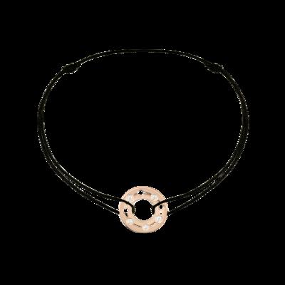 Bracelet sur cordon Pulse dinh van or rose et diamants