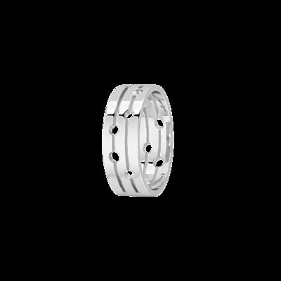 Bague Pulse dinh van moyen modèle or blanc