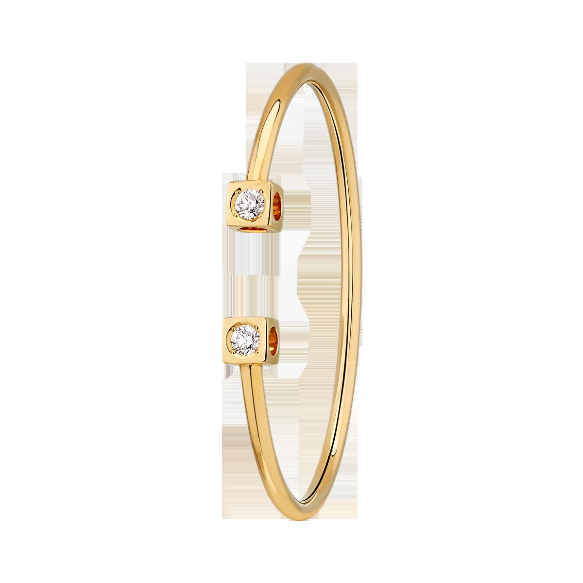 Bracelet Le Cube Diamant Grand Modèle or jaune
