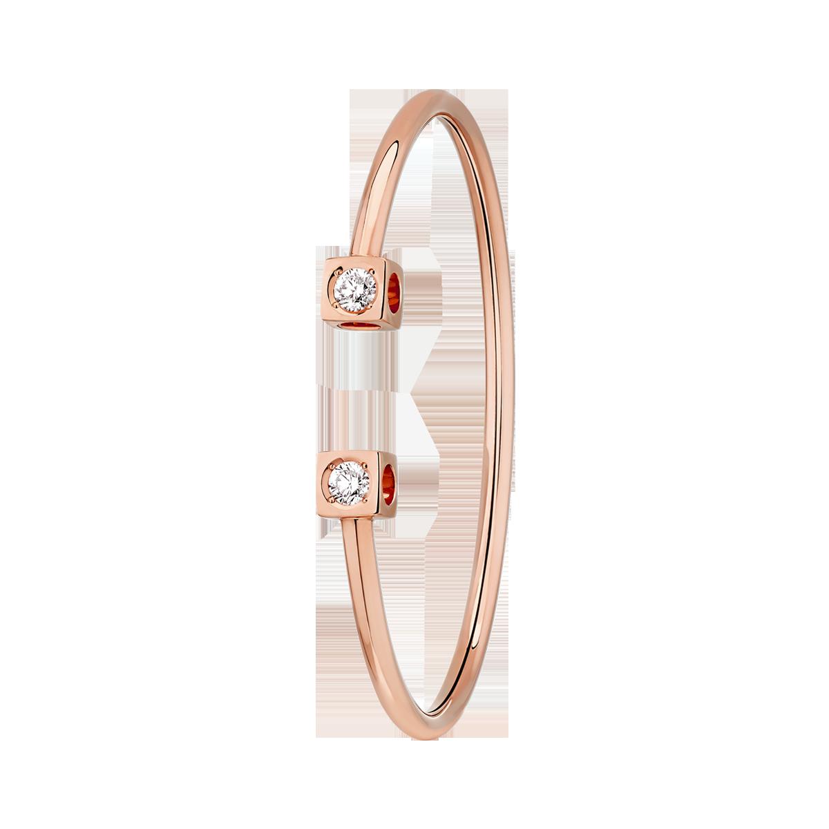 Bracelet Le Cube Diamant Grand Modèle or rose