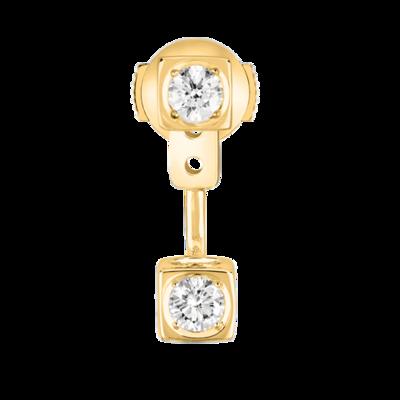 Mono boucle d'oreille Le Cube Diamant en or jaune