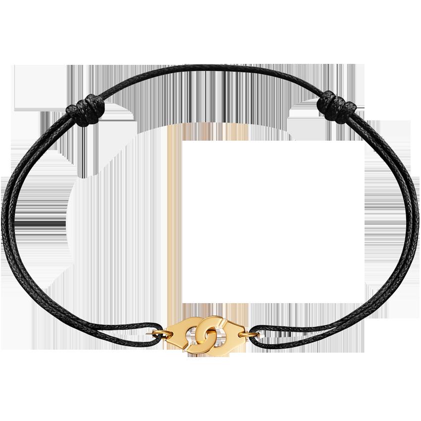 Bracelet sur cordon Menottes dinh van R8 or jaune