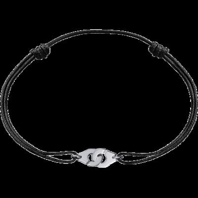 Bracelet sur cordon Menottes dinh van R8 or blanc
