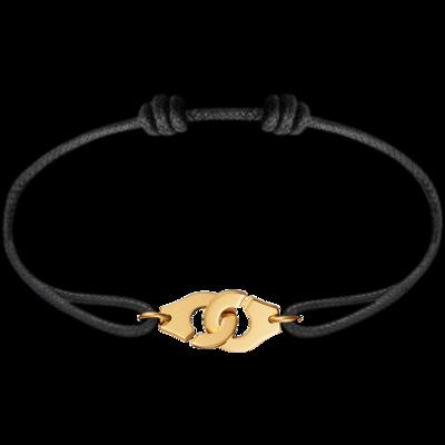Bracelet sur cordon Menottes dinh van R10 or jaune