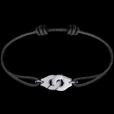 Bracelet sur cordon Menottes dinh van R10 or blanc