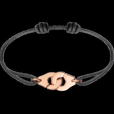 Bracelet sur cordon Menottes dinh van R12 or rose