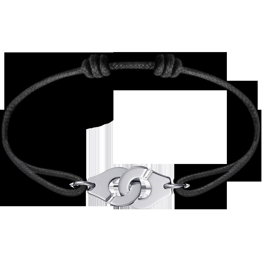 Bracelet sur cordon Menottes dinh van R12 or blanc