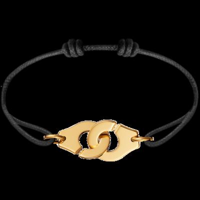 Bracelet sur cordon Menottes dinh van R15 or jaune