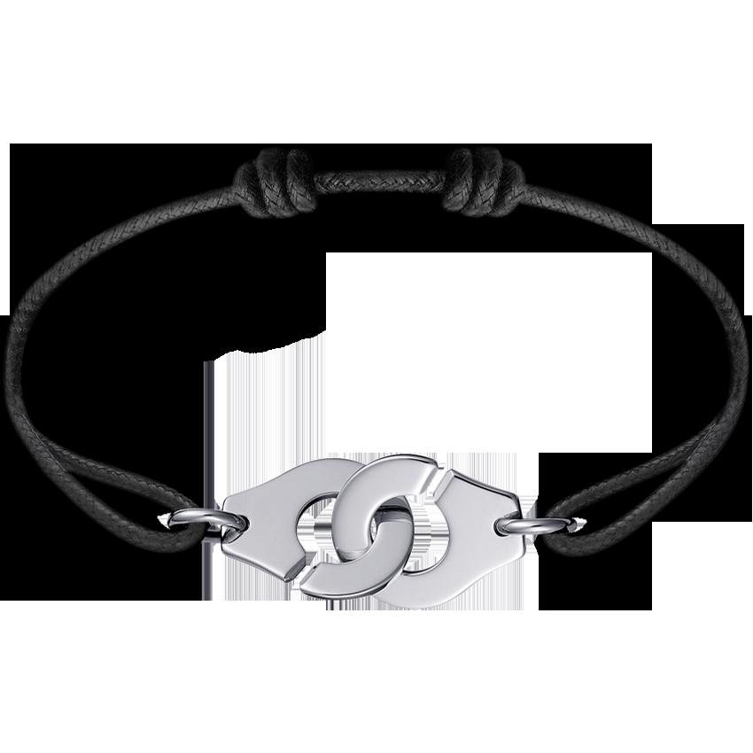 Bracelet sur cordon Menottes dinh van R15 or blanc
