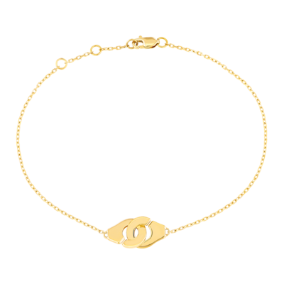 Bracelet Menottes dinh van R8 or jaune