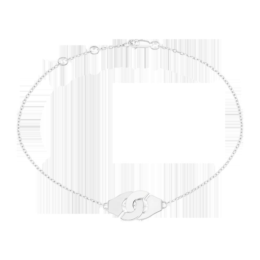 Bracelet Menottes dinh van R8 or blanc