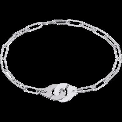 Bracelet Menottes dinh van R10 or blanc