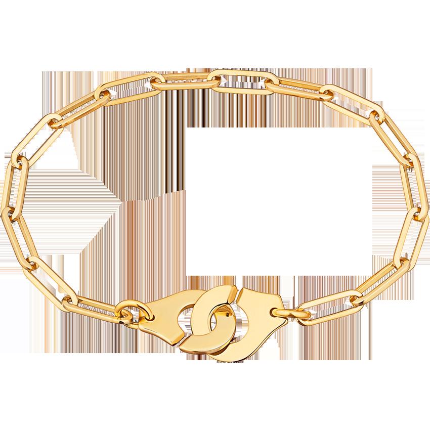 Bracelet Menottes dinh van R12 or jaune