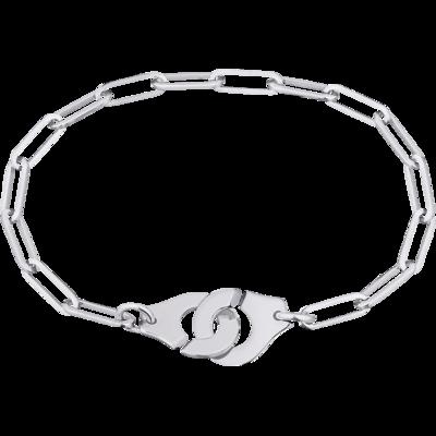 Bracelet Menottes dinh van R12 or blanc