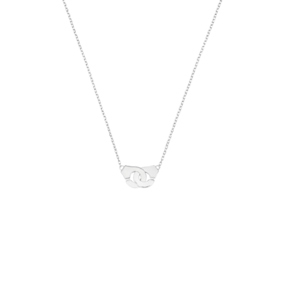 Collier Menottes dinh van R8 or blanc