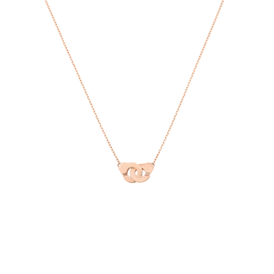 Collier Menottes dinh van R8 or rose