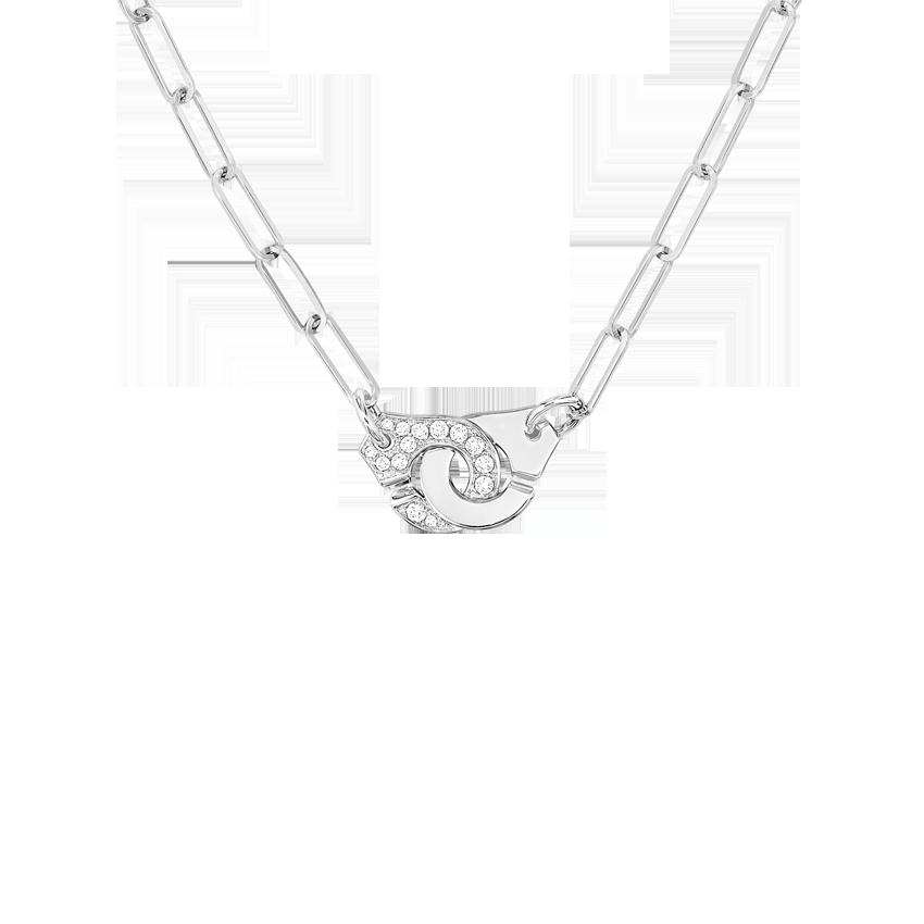 Collier Menottes dinh van R10 or blanc et diamants