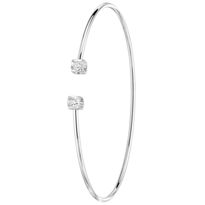 Bracelet Le Cube Diamant or blanc et diamants