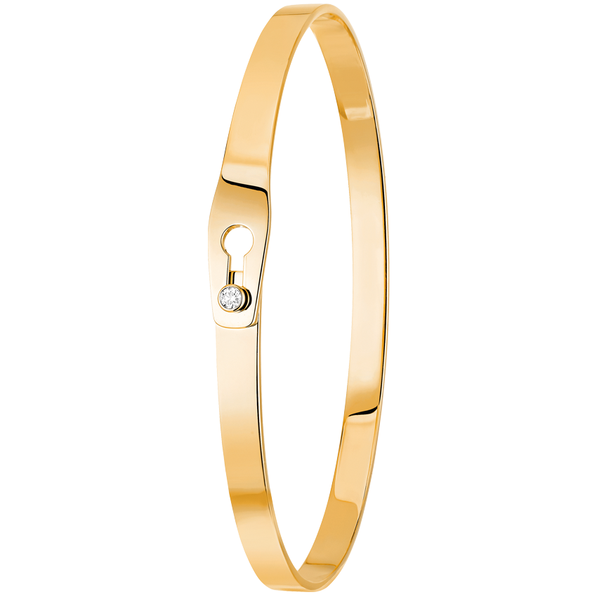Bracelet Serrure or jaune et diamant