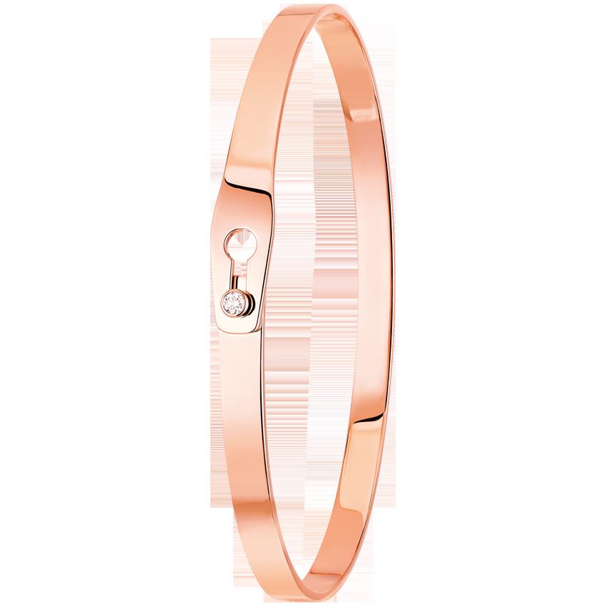 Bracelet Serrure Or Rose et Diamant